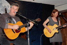 Wendell Ferguson and Katherine Wheatley at the Wolf's Den, March 6. Photo by Richard amery