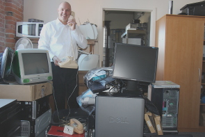 Allan Schneider suggested people  wanting to donate old technology  to the 2015 E-Cycle drive either drop it off in bins across the city or just call the Lethbridge Community Network  (403-317-7799). Photo by Richard Amery