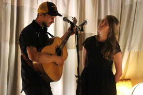 Clayton and Joelle at the Owl Acoustic Lounge,  July 6. Photo by Richard Amery