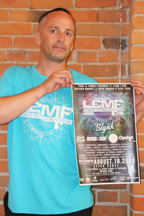 David Fritz aka Marty Funkhauser is excited about the seventh annual LEMF in Galt Gardens, Aug. 18. photo by Richard Amery