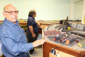 Don Cook shows the Southern Alberta Model Train Club's HO exhibit during their open House, Oct. 21. Photo by Richard AmeryRichard Amery