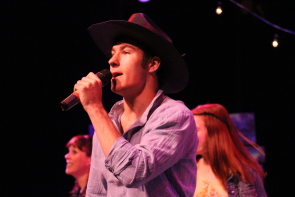 AJ Baragar performs in New West's Barn Dance. Photo by Richard Amery