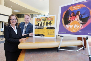 Derek Stevenson and Sharon Peat are excited about  the upcoming new West Theatre season. Photo by Richard Amery
