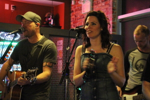 Uncovered perform at Mojos, June 9. Photo by Richard Amery
